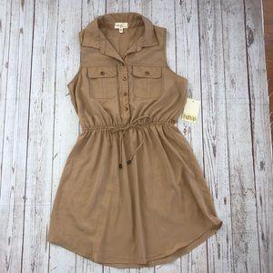 Bebop sleeveless dress with elastic waist size lg